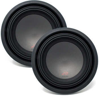 Two Alpine R-W12D4 R-Series 12-Inch Dual 4 Ohm Subwoofers bundle