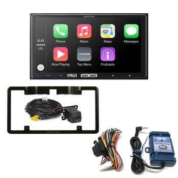Alpine iLX-107 7-Inch Receiver compatible with Wireless CarPlay, Backup Camera w/ Mount & Steering Wheel Interface