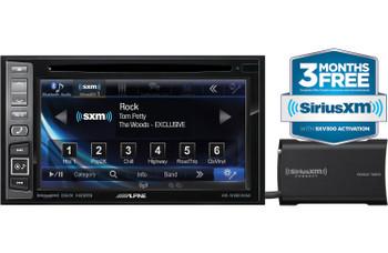 Alpine INE-W960HDMI Audio/Navigation System, Sirius XM tuner, & Backup Camera with license plate mounting kit bundle