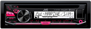 "JVC KD-R97MBS Bluetooth Marine Radio and a pair of JVC CS-DR6200M 6.5"" Black Marine Coaxial Speakers"