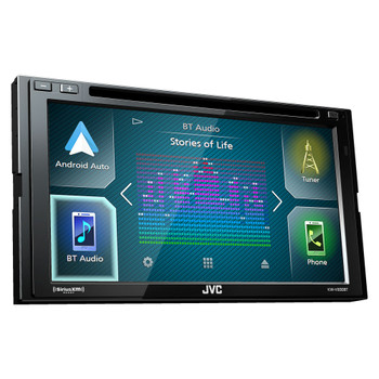 JVC KW-V830BT compatible with Android Auto / CarPlay CD/DVD, SiriusXM Tuner, Back Up Camera, Steering Interface