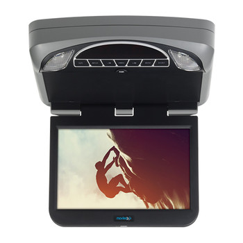 "10.1"" Digital High Def Overhead Monitor System with DVD, HDMI/MHL Input Adapter & 2 Wireless Headphones Included"