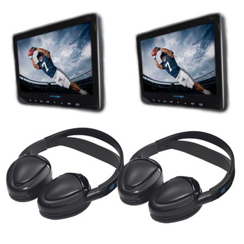 Audiovox AVX10USB Universal Seat-back DVD Video bundle with Headphones