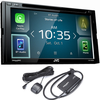 JVC KW-V830BT compatible with Android Auto / CarPlay CD/DVD Stereo with SiriusXM Tuner