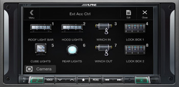 "Alpine i207-WRA 7"" CarPlay & Android Auto Receiver, HCE-TCAM1-WRA Rear View Camera & KAC-001 Accessory Controller"