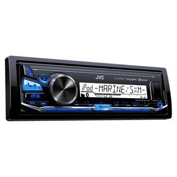 """JVC KD-X33MBS Mechless Bluetooth Marine Radio and two pairs of JVC CS-DR6200M 6.5"""" Black Marine Coaxial Speakers"""