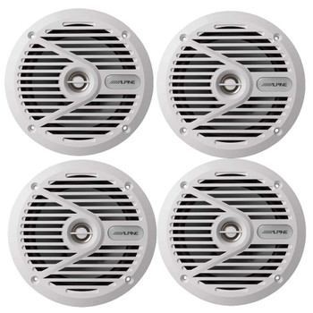 "Alpine SPS-M601W 6-1/2""  Marine Coaxial 2-Way Marine Speaker Bundle"