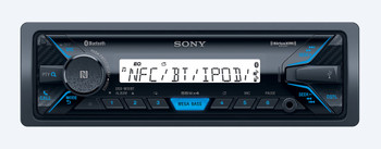 """Sony DSX-M55BT Bluetooth Marine Receiver with two pairs of XS-MP1611 White 6.5"""" Speakers and Sirius XM tuner bundle"""