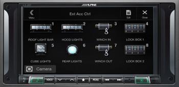 """Alpine i207-WRA 7"""" CarPlay & Android Auto Receiver & HCE-TCAM1-WRA Spare Tire Rear View Camera"""