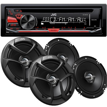 JVC KD-R370 CD with Two pairs of 6.5 CSJ260 Speakers