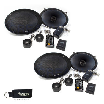 Alpine X-S69C Bundle - Two pairs of X-Series 6x9 Inch Component 2-Way Speakers