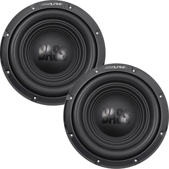 Alpine W10S4 10-inch Single 4 Ohm Subwoofer Bundle