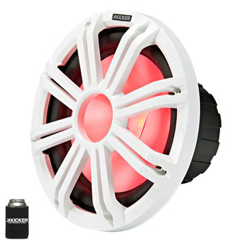 """Kicker KMF124 12"""" Marine Subwoofer with LED White Grill 4 Ohm for Free Air Applications"""