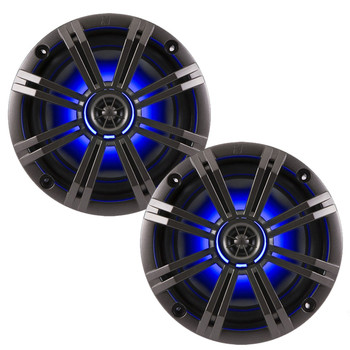 "Kicker OEM Replacement Charcoal 6.5"" 4-Ohm Coaxial Marine Speakers (Pair)"