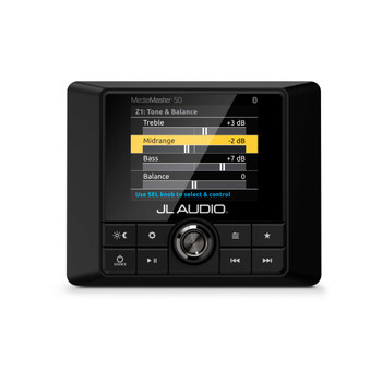 JL Audio MM50 - Weatherproof marine source unit with full color LCD display - 25 Watts x 4 @ 4 ohm