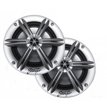 """Stinger SEA65RGBS 6.5"""" Coaxial Speaker With Built-In Multi-Color Rgb Lighting"""