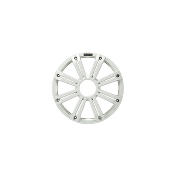 Kicker KMG10 10-Inch (25cm) Grille for KM10 and KMF10 Subwoofer, LED, White