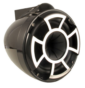 """Wet Sounds For Malibu G3 Tower System REV10B-X 10"""" Pair Black X-Mount Tower Speakers & Polished Adapters"""