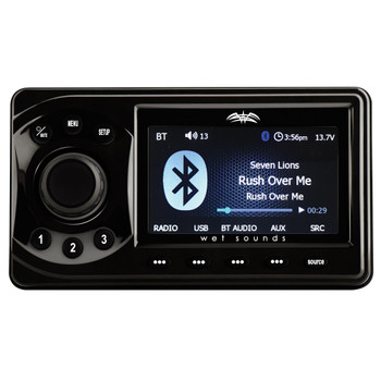 Wet Sounds WS-MC1, Wired Remote, & LED Controller bundle - Marine Media Player w/ Bluetooth, Color Display, LED Control