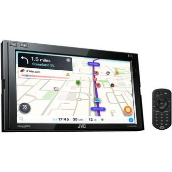 JVC KW-M845BW Receiver compatible with Wireless Android Auto, CarPlay + Steering Wheel Interface & SiriusXM Tuner