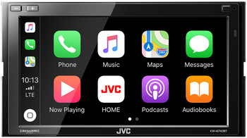 JVC KW-M740BT Compatible with CarPlay, Android Auto 2-DIN AV Receiver (No CD Drive) with Steering Wheel Interface