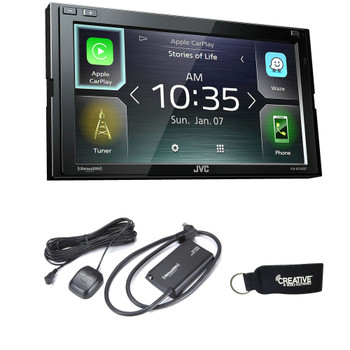JVC KW-M740BT Compatible with CarPlay, Android Auto 2-DIN AV Receiver (No CD Drive) with Sirius XM  tuner included