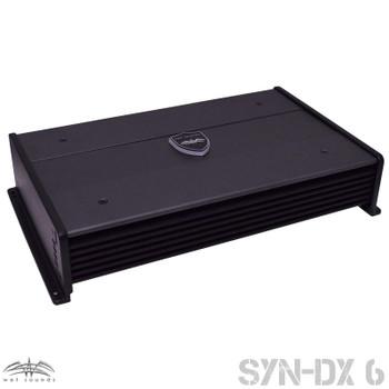Wet Sounds SYN-DX 6 Full Range 6 Channel Amplifier & Stinger 7-Meter 4-Gauge Amplifier Wiring Kit w/ RCAs