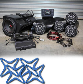 Polariz RZR XP 1000 Complete SSV Works 5 Speaker Plug-And-Play System - Blue