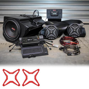 Polariz RZR XP 1000 Complete SSV Works 3 Speaker Plug-And-Play System - Red