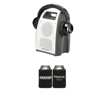 Kicker Bullfrog bundle One Bullfrog® 400 in gray & Tabor Bluetooth® Headphones