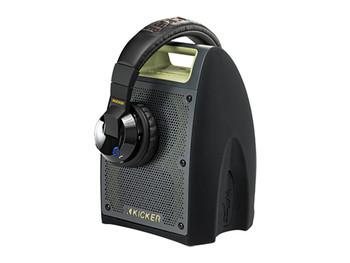 Kicker Bullfrog bundle One Bullfrog® 400 in green & Tabor Bluetooth® Headphones