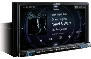 "Alpine System - iLX-207 Receiver, S-S65C & S-S65 6.5"" Speakers, MRV-M500 500 Watt Amp, and S-W10D4 10"" Subwoofer"
