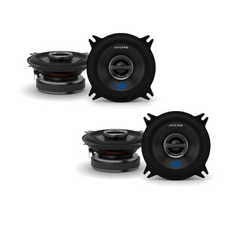 "Alpine S-S40 4"" Speaker Bundle - Two Pairs of 4"" S-Series S-S40 2-Way Coaxial Speakers"