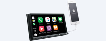 Sony XAV-AX5000 compatible with CarPlay & Android Auto receiver + Rear View Camera & Steering Wheel Interface