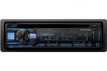"""Alpine CDE-172BT CD Receiver with Bluetooth + Two Pairs of Alpine S-S65 S-Series 6.5"""" Coaxial Speakers"""