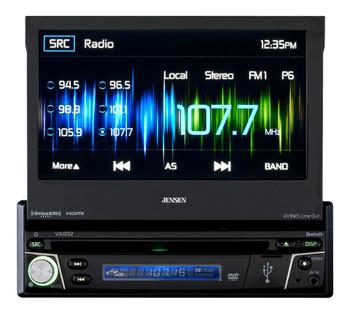 Jensen Refurbished VX4012 A/V Receiver w/ DVD | Bluetooth | SirusXM-Ready | Pandora | HDMI | USB | SD Card | AV Input