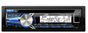 JVC KD-R85MBS Refurbished Marine CD Receiver with Bluetooth Wireless Technology
