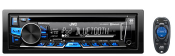 JVC Refurbished KD-R860BT Single DIN Bluetooth In-Dash CD/AM/FM Receiver w/ Pandora & iHeartRadio Support