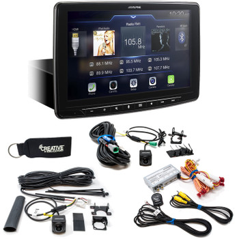 Alpine iLX-F309 HALO9 Receiver w/ 9-inch Touch Screen, Single-DIN, Includes Front & Rear Cameras + Camera Switcher