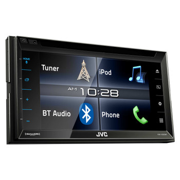 "JVC KW-V320BT 6.8"" Touchscreen BT Stereo with Included SiriusXM tuner, Remote, and Lightning Cable"