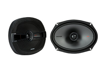 "Kicker 44KSS6504 6.5"" KS-Series Component Speakers & 44KSC6504 6x9"" Speakers with 44KXA4004 KX-Series Amp and wire kit"