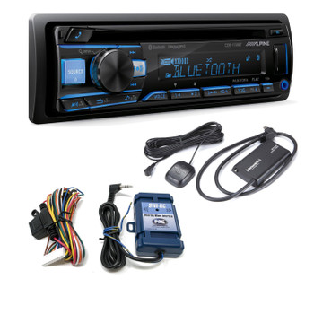 Alpine CDE-172BT CD Receiver with Bluetooth + SiriusXM Satellite Tuner & SWI-CP2 Steering Wheel Control Interface