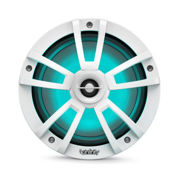 Infinity 822MLW Marine 8 Inch RGB LED Coaxial Speakers - White