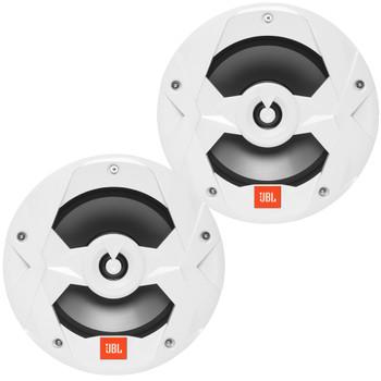 JBL MS8W Marine 8 Inch Two-way Speakers - Pair, White