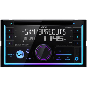 JVC KW-R935BTS 2-DIN CD Receiver with Bluetooth, Includes SiriusXM SXV300 Tuner and SWI-RC