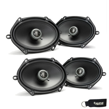 MB Quart - Two Pairs Of Formula 5x7 / 6x8 Inch 2-Way Coaxial Car Speakers - FKB168
