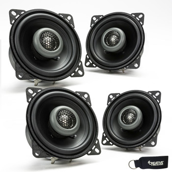 MB Quart - Two Pairs Of Formula 4 Inch 2-Way Coaxial Car Speakers - FKB110