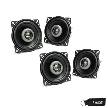 MB Quart - Two Pairs Of Formula 3.5 Inch 2-Way Coaxial Car Speakers - FKB108