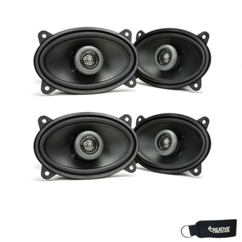 MB Quart - Two Pairs Of Formula 4 X 6 Inch 2-Way Coaxial Car Speakers - FKB146