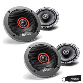 MB Quart - Two Pairs Of Formula 6.5 Inch 2-Way Coaxial Car Speakers - FKB116